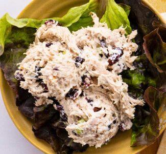 Waldorf Chicken Salad on a Plate