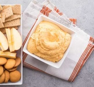 Pumpkin Dip with apples, Nilla waffers and graham crackers